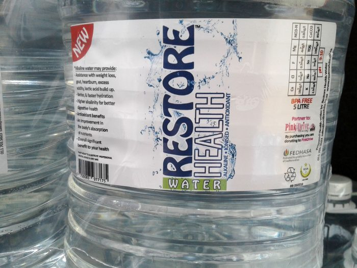 Restore health water - alkaline water benefits